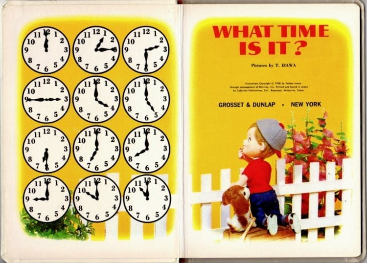 What Time Is It - Vintage Puppet Storybook