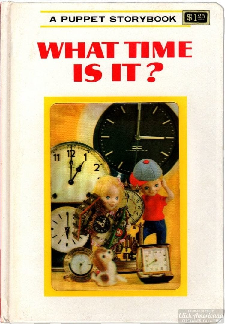 What Time Is It - Vintage Puppet Storybook cover