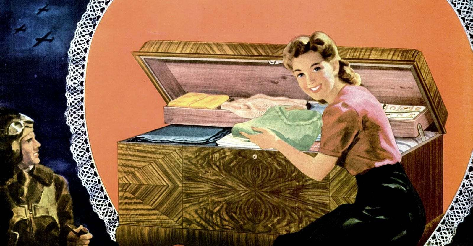 What every girl wanted A cedar-lined Lane hope chest for linens and her trousseau