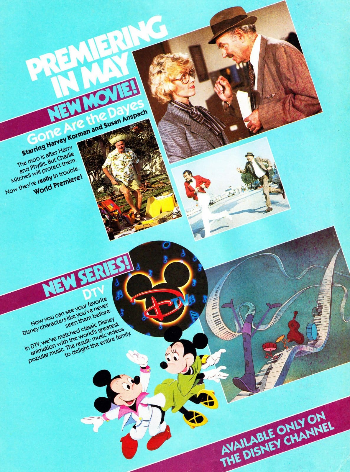 What was playing on the Disney Channel in April 1984