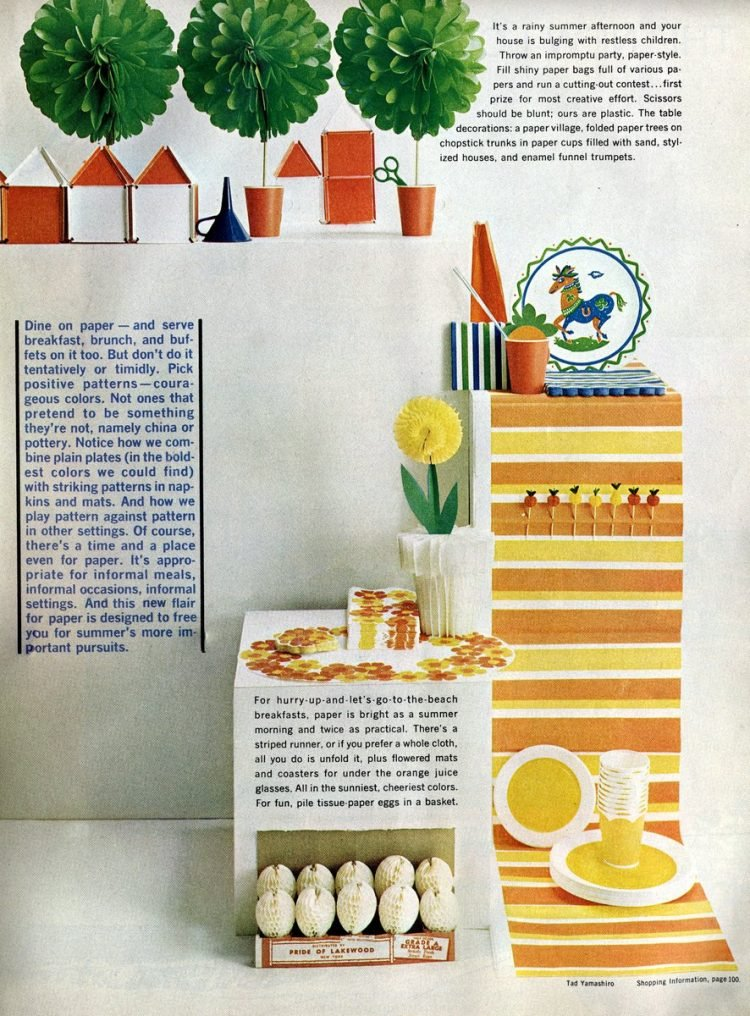 When disposable paper party decor became all the rage in the 60s (1)