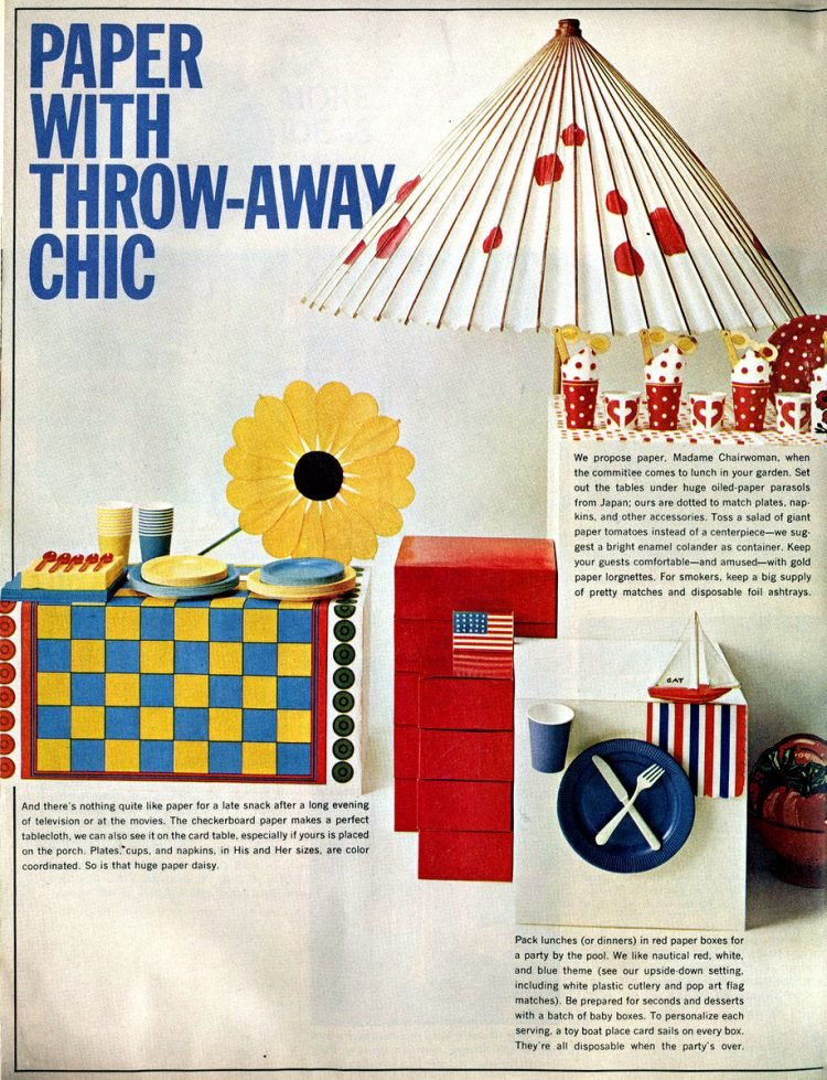 When disposable paper party decor became all the rage in the 60s (2)