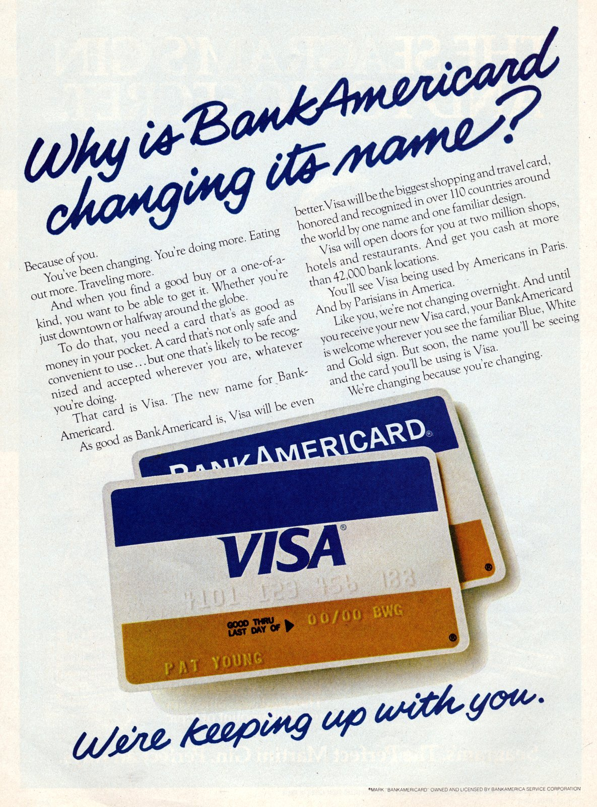 When the Visa credit card first came out (1977)