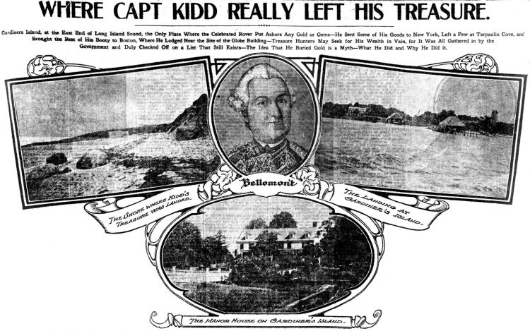Where Captain Kidd really left his treasure (1909)