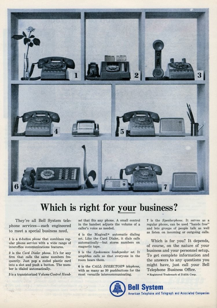 Which phone is right for your business (1965)