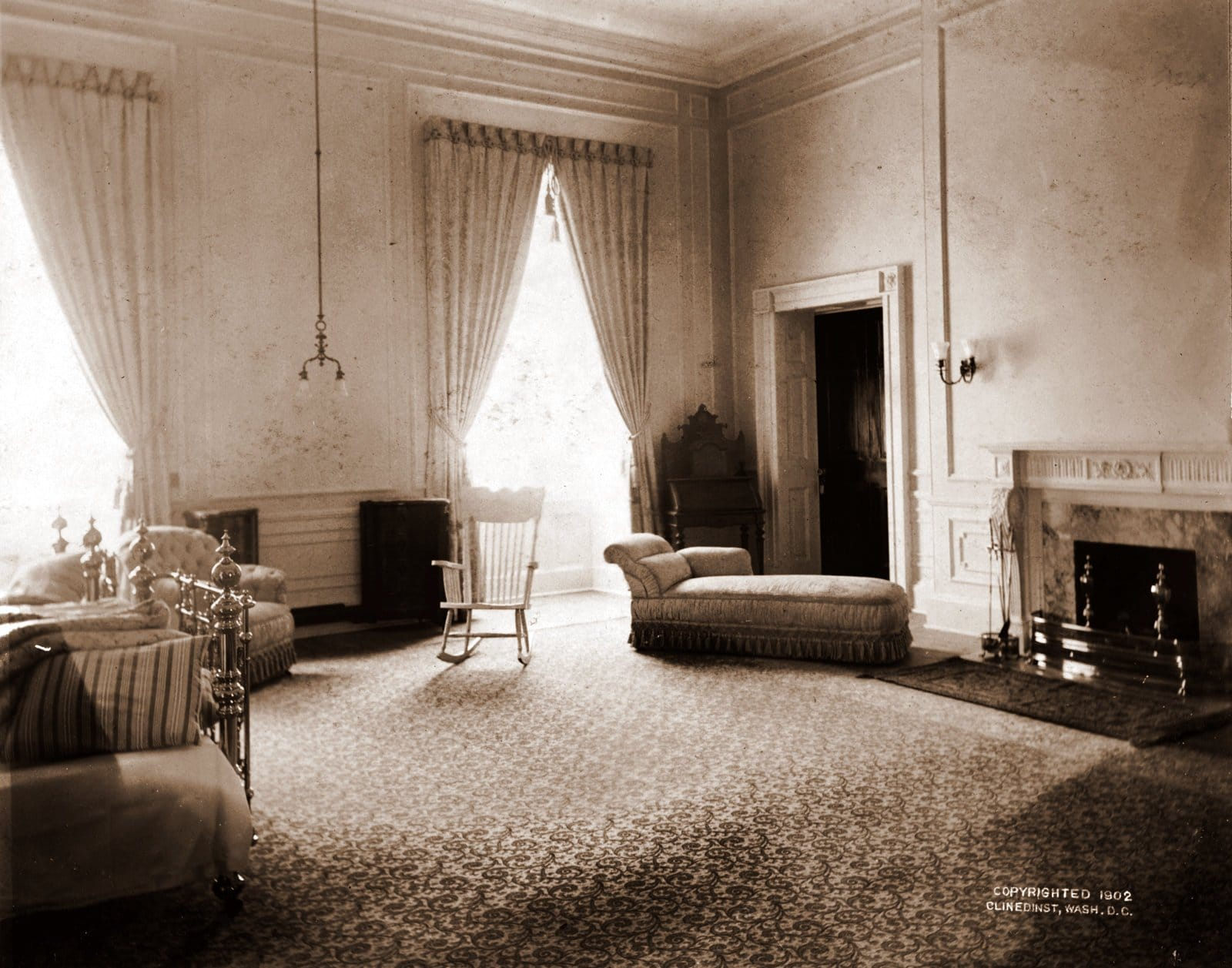 The White House bedroom of Alice Roosevelt Longworth