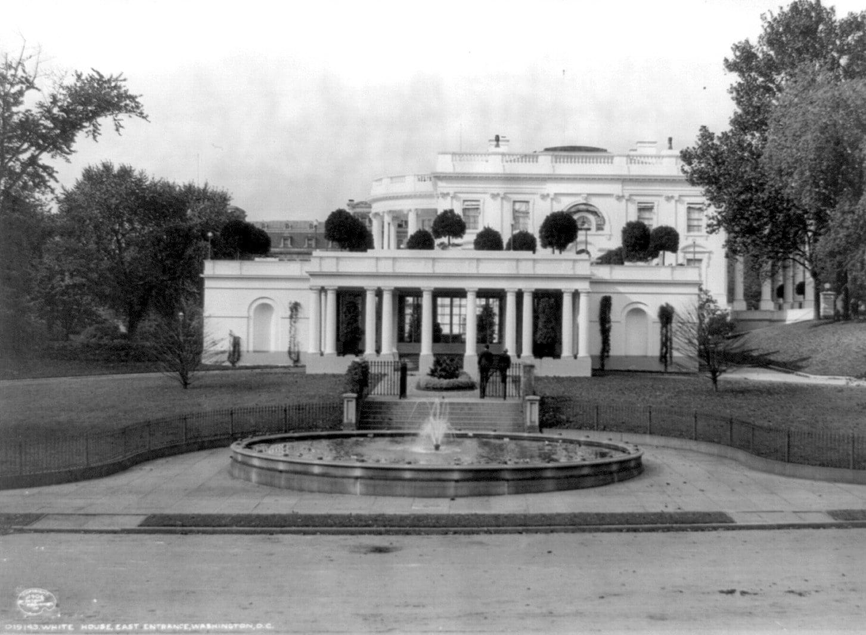 White House, east entrance, Washington, DC