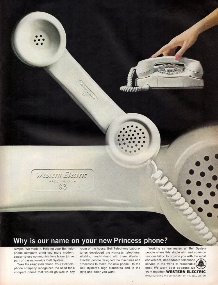 White Princess telephones from 1964
