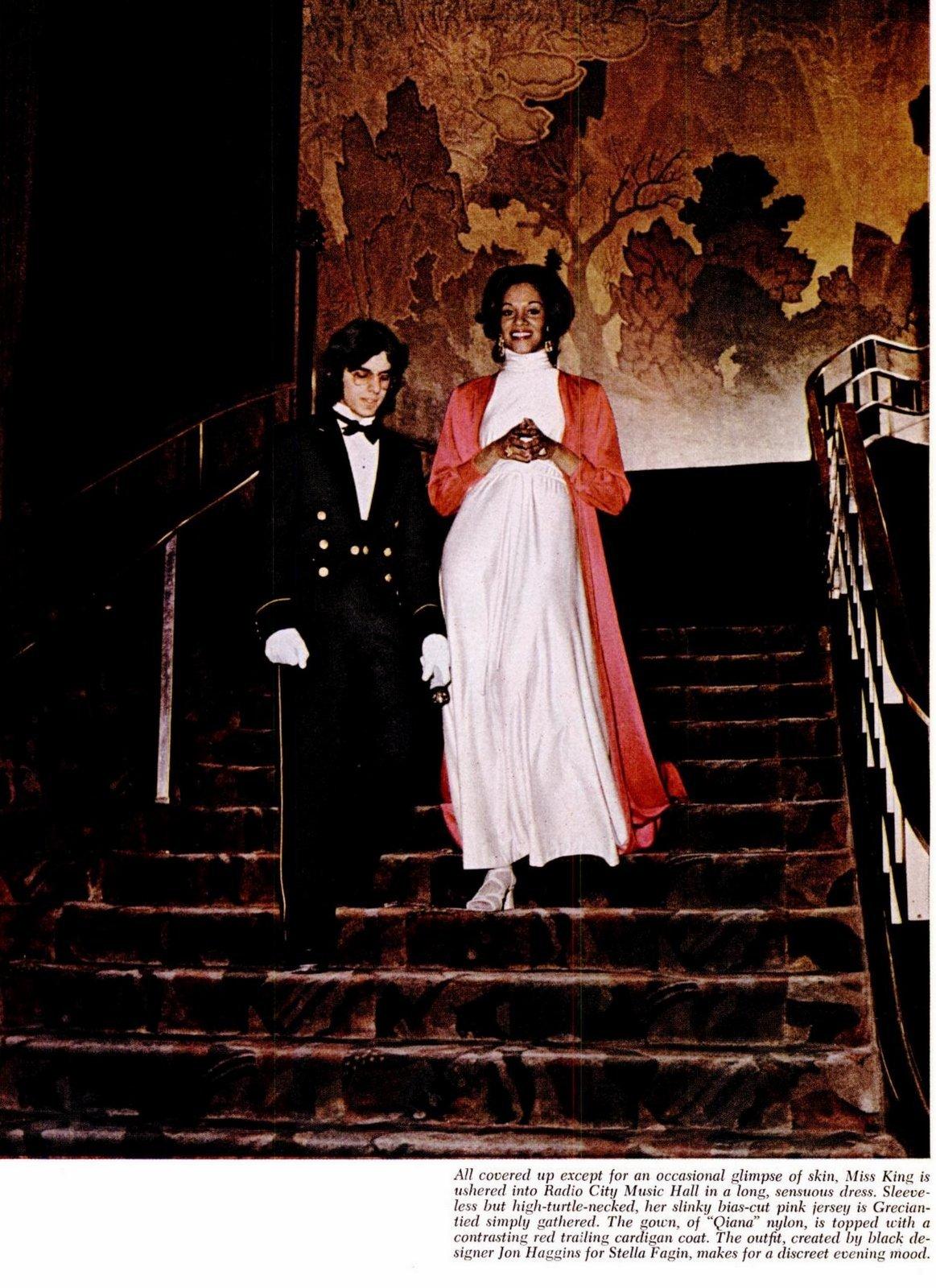 White Qiana turtleneck dress (1973)