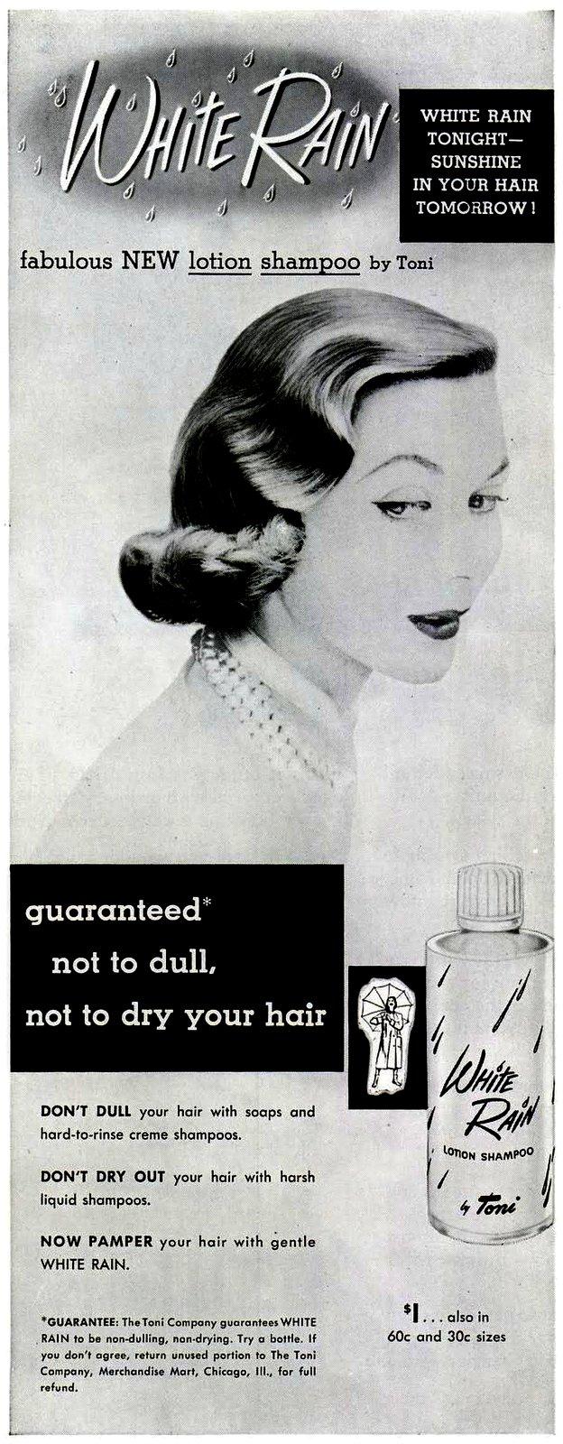 White Rain vintage ad