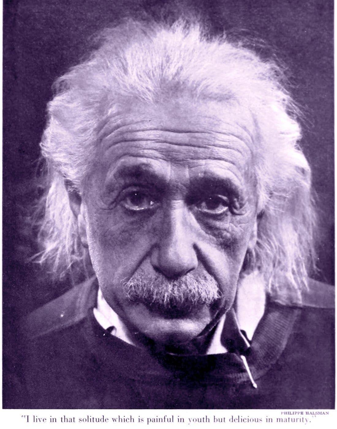 White-haired, world-famous physicist Albert Einstein