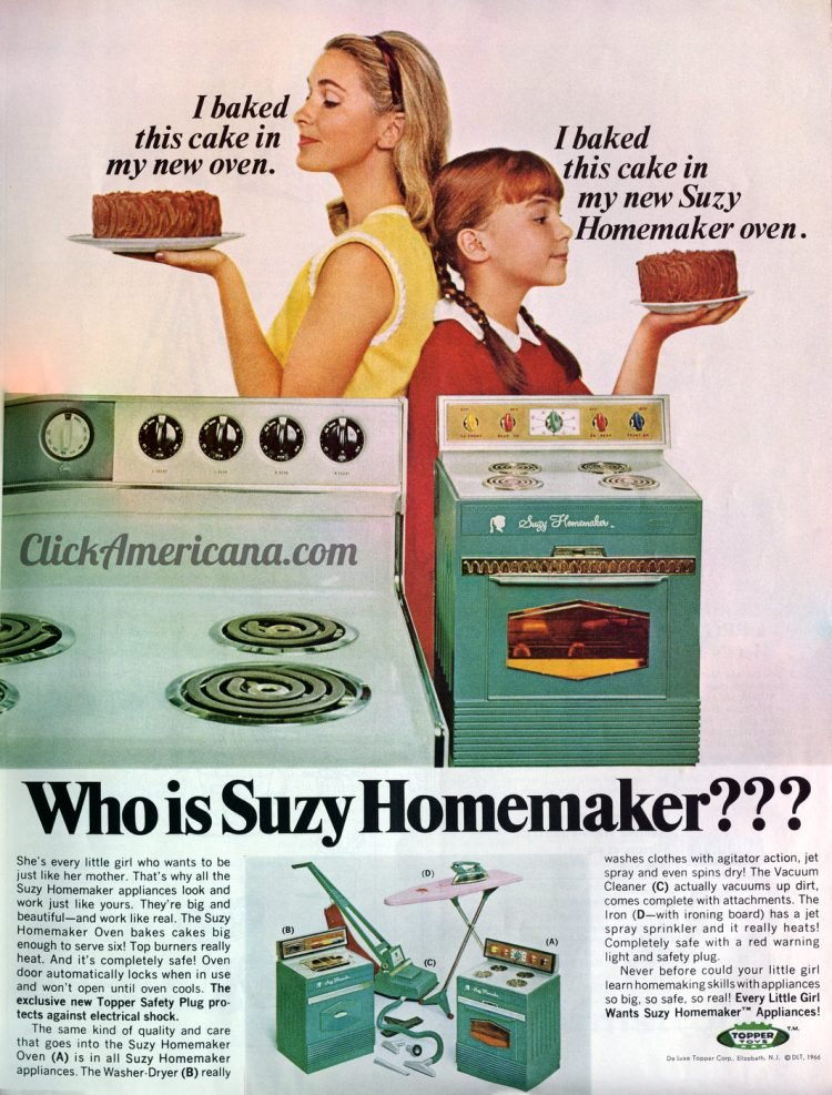 Who is Suzy Homemaker Vintage kitchen toy sets from 1966
