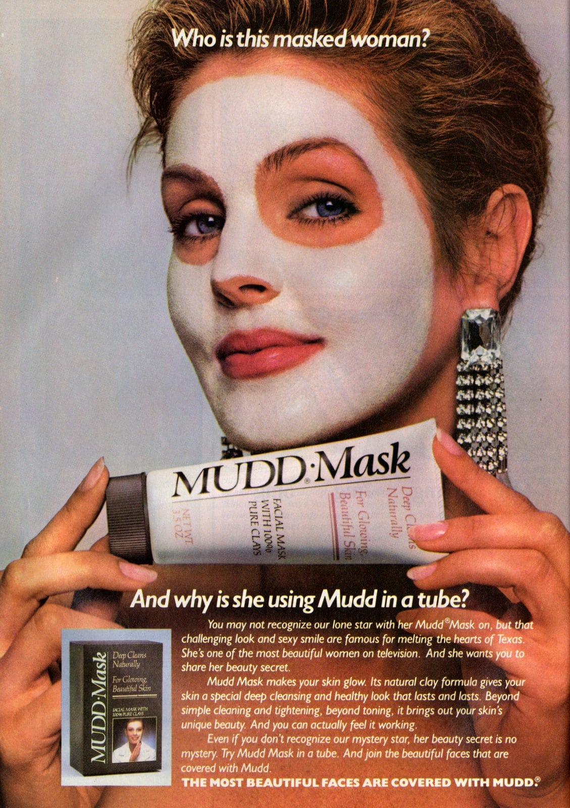 Who is this masked woman Priscilla Presley for Mudd Mask (1987)