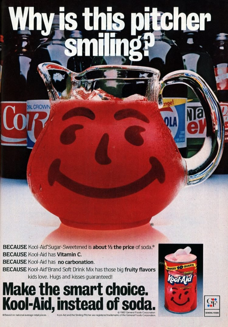 Why is this pitcher smiling Kool-Aid (1982)