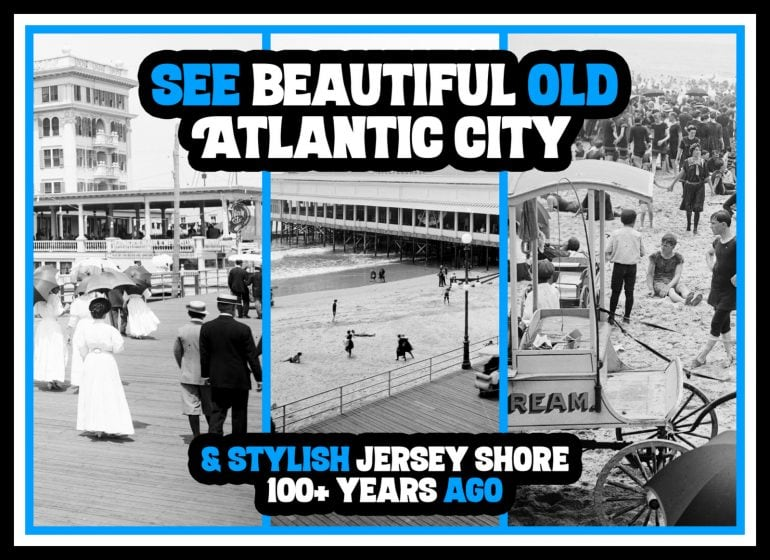 Why old Atlantic City was a beautiful popular vacation destination 1900s