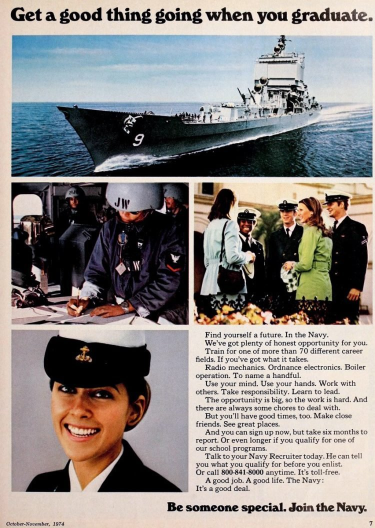 Why to join the US Navy - 1970s (1)