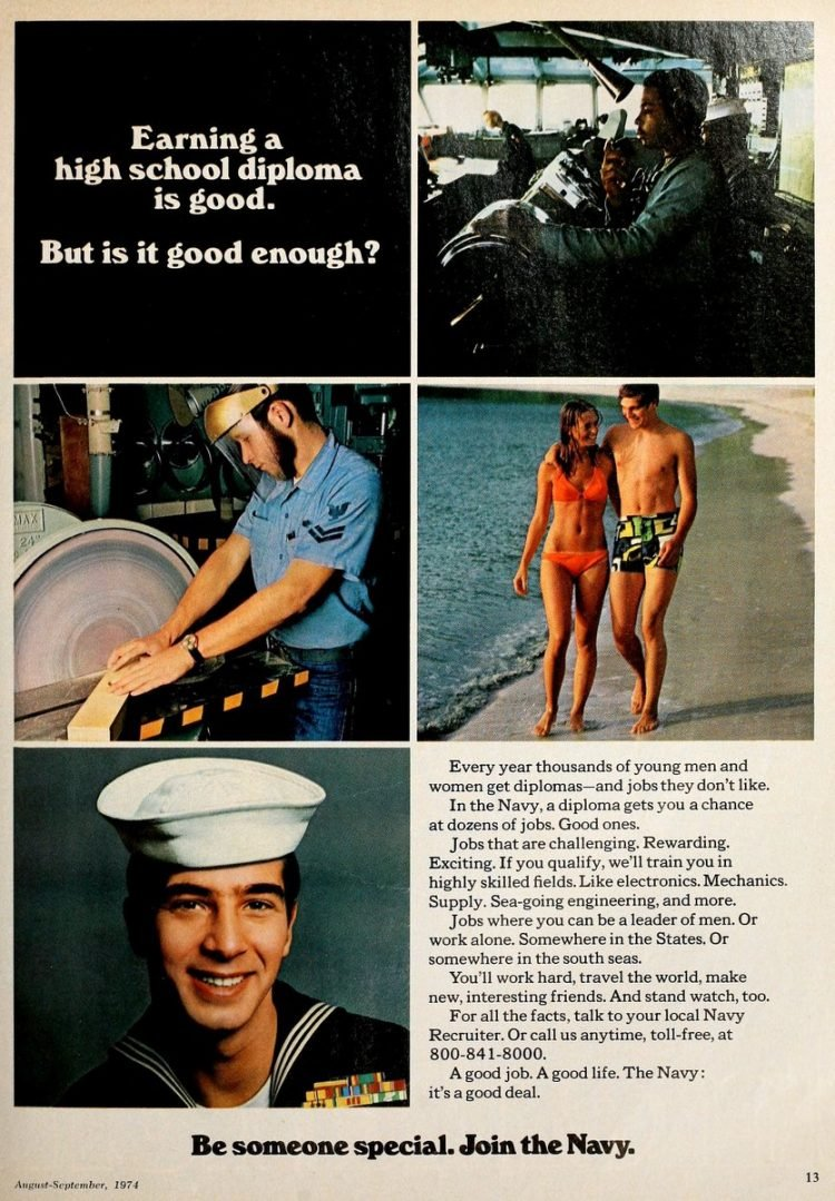 Why to join the US Navy - 1970s (2)