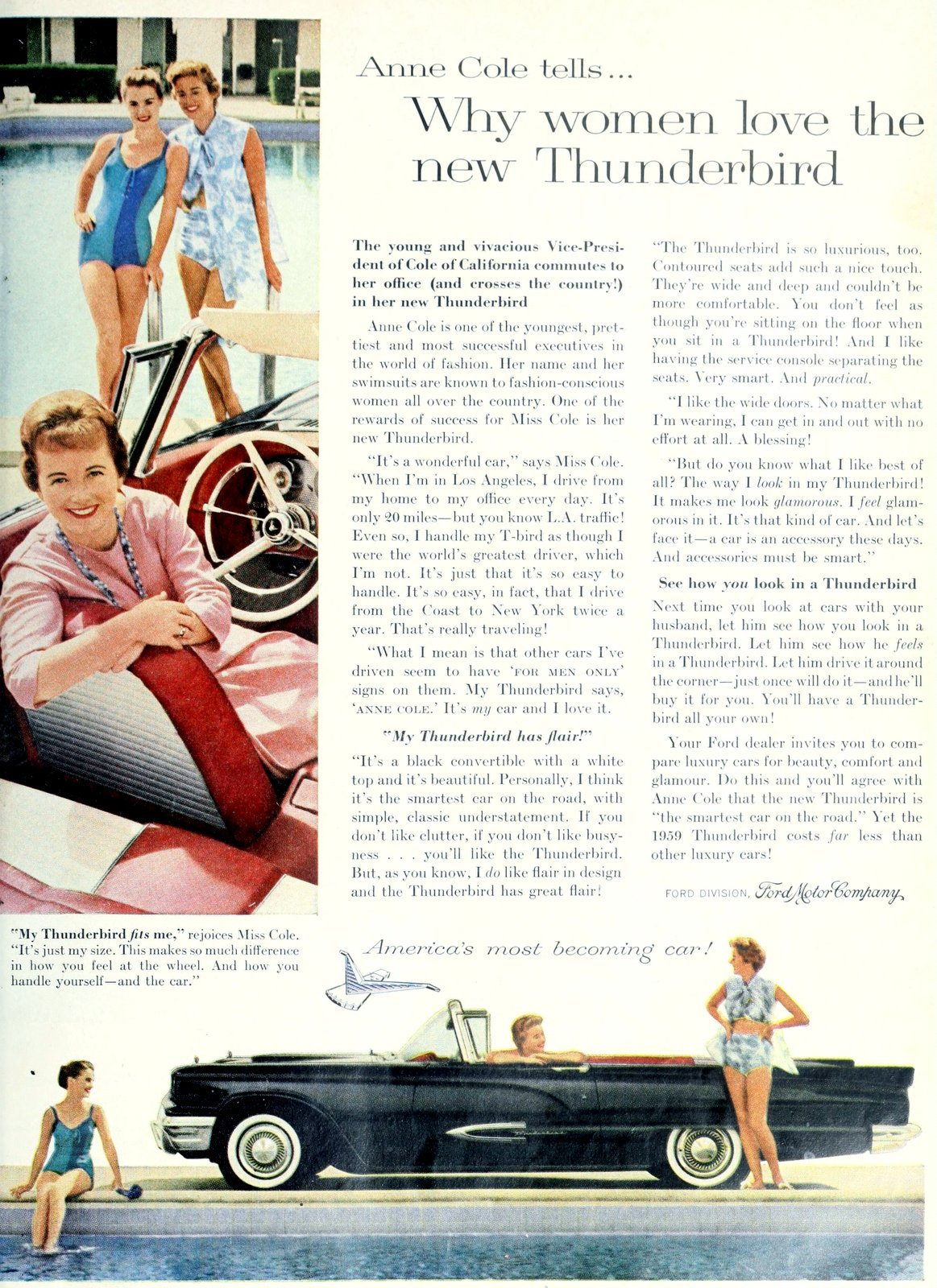 Why women love the 1959 Ford Thunderbird