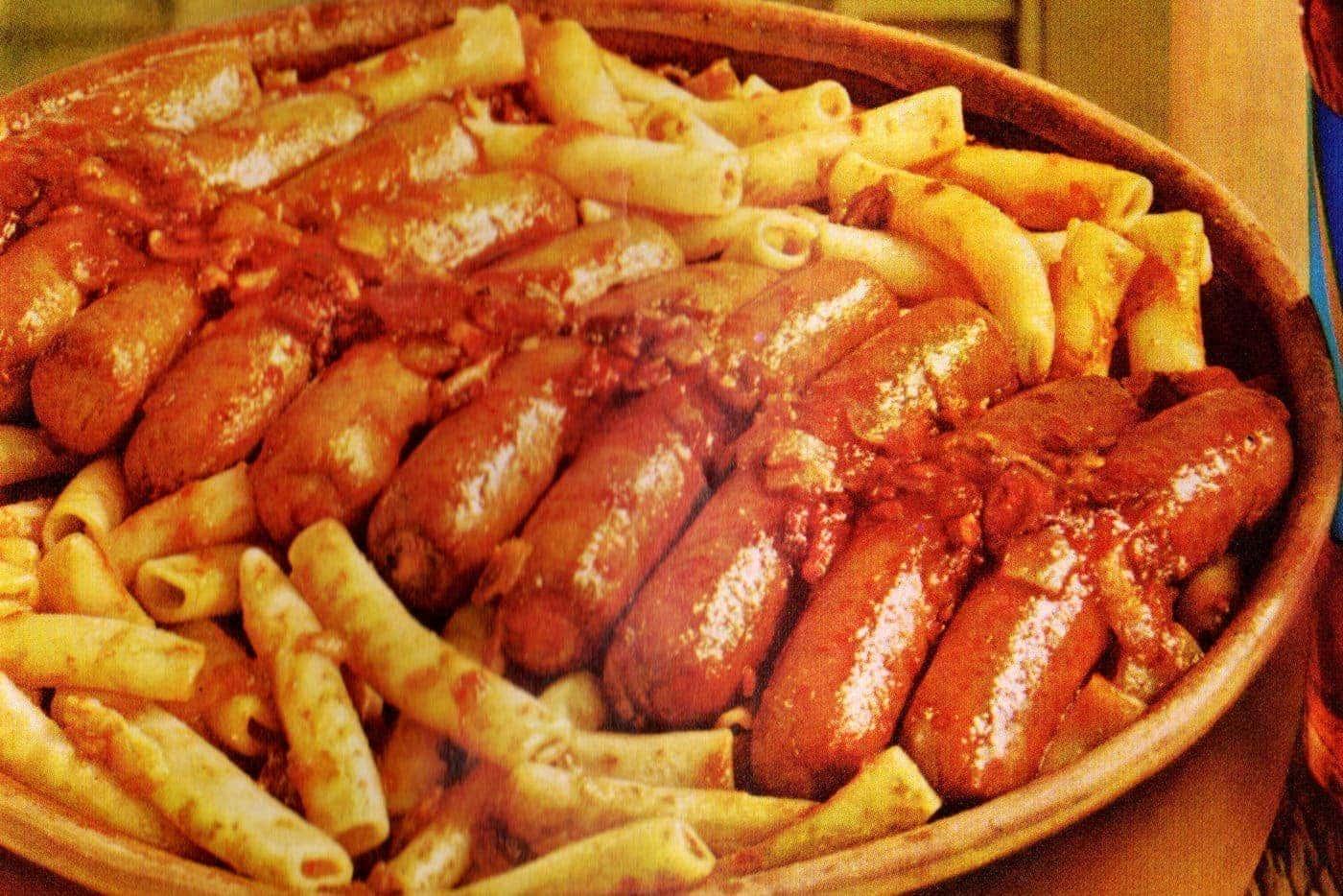 Wieneroni casserole retro recipe