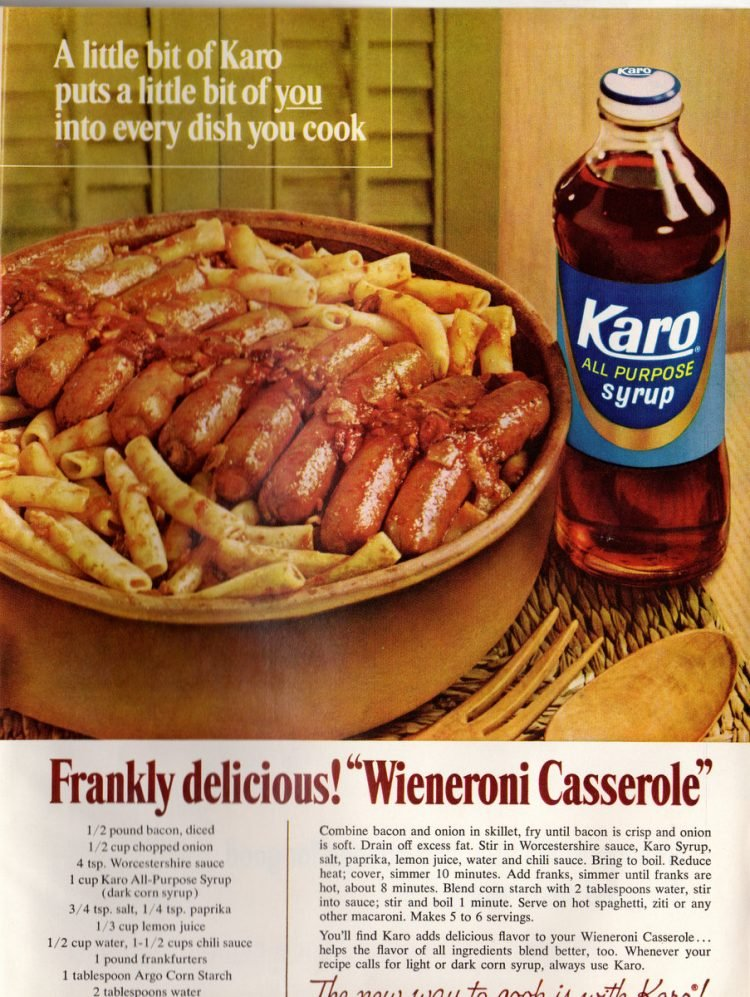Wieneroni casserole was a frankly delicious way to serve hot dogs (1966)