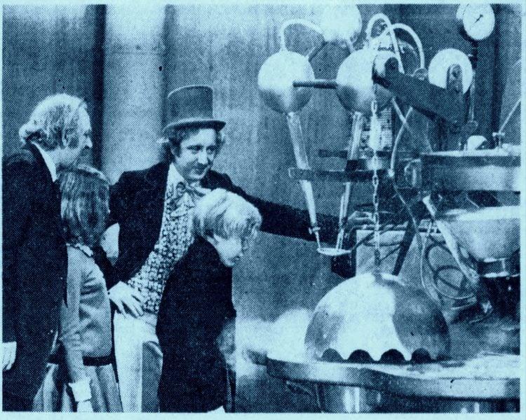 Willy Wonka & the Chocolate Factory scene