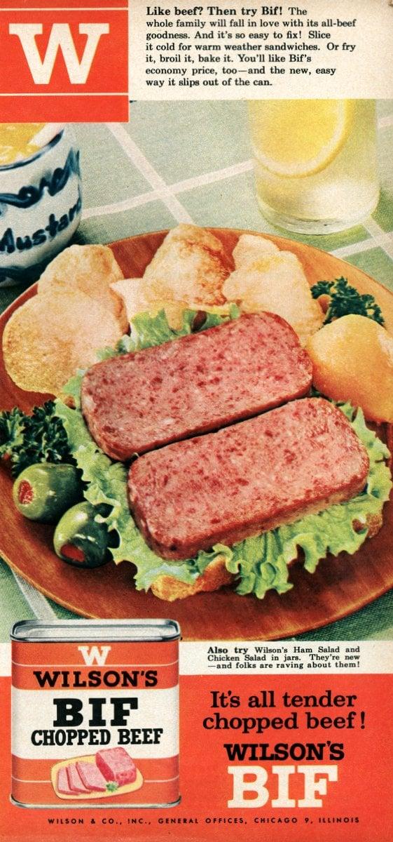 Wilson's Bif chopped beef from 1955
