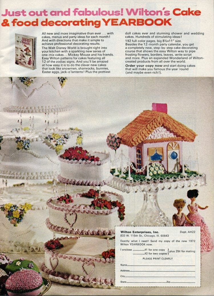 Wilton cake decorating 1972