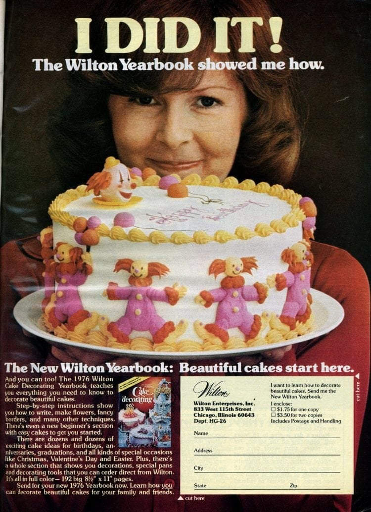 Wilton cake decorating - 1976
