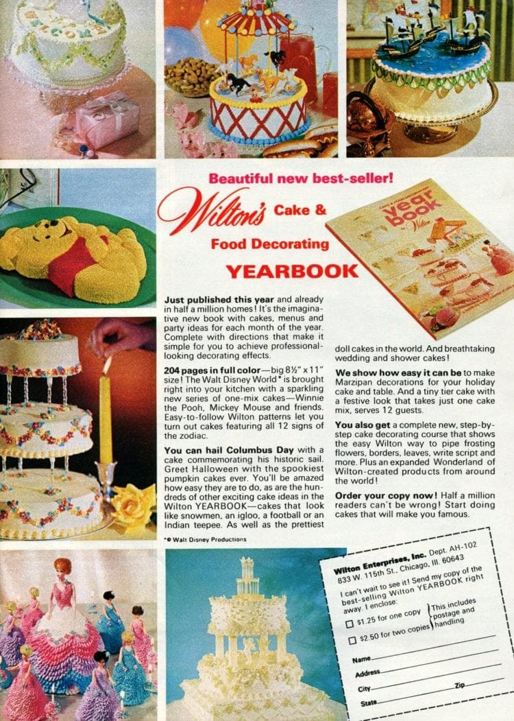 Wilton cake decorating yearbook 1972