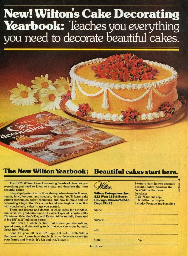 Wilton cake decorating yearbook 1975