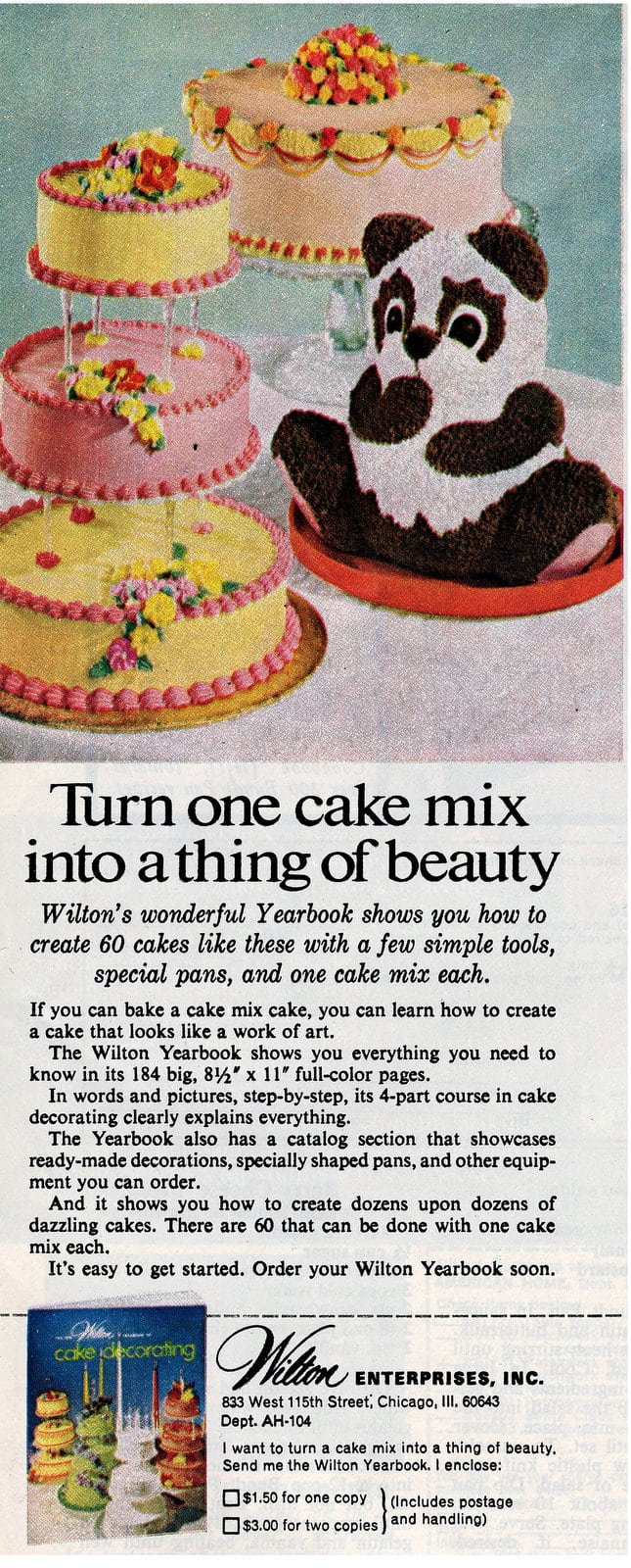 Wilton cake decorating yearbook for 1974