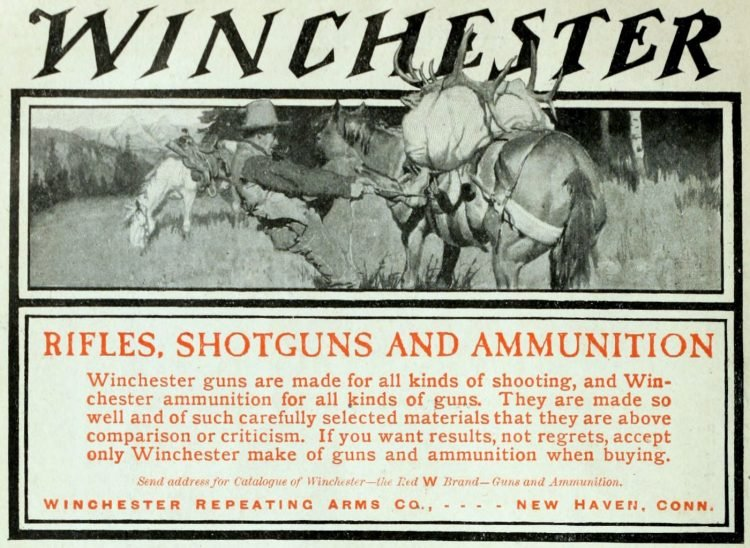 Winchester rifles, shotguns and ammo from the 1900s