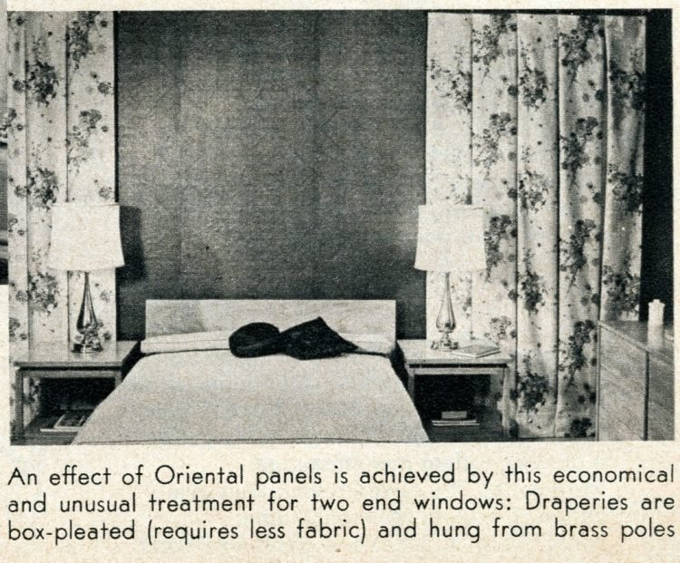 Window coverings from 1956 - Asian panels