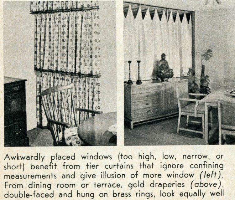Window coverings from 1956 - tier curtains