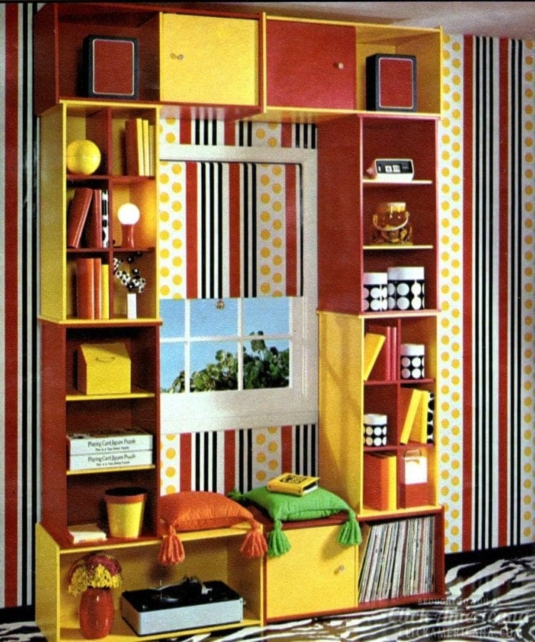 Window decor makeover for teen bedroom from 1971