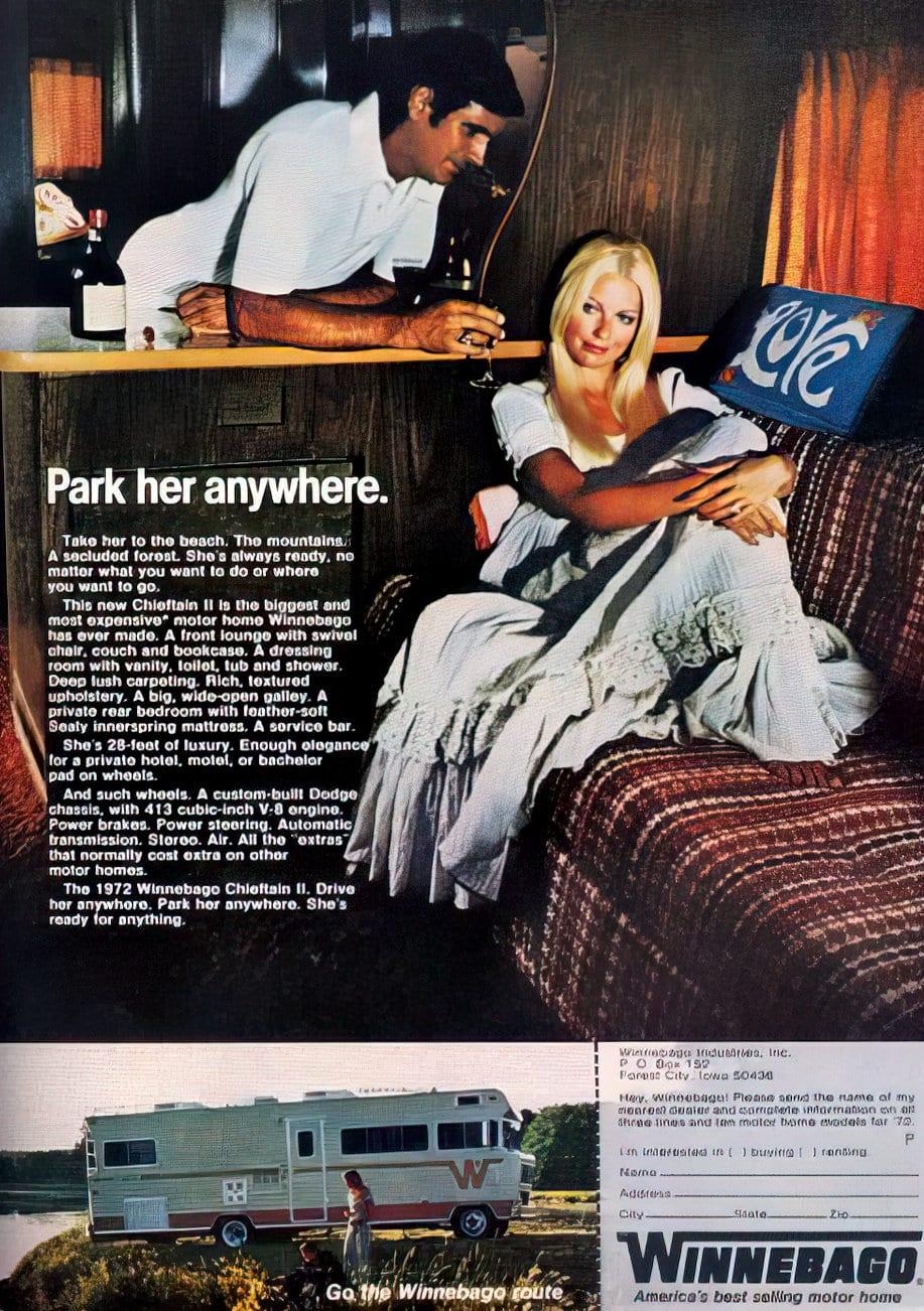 Winnebago 1970s - Park her anywhere