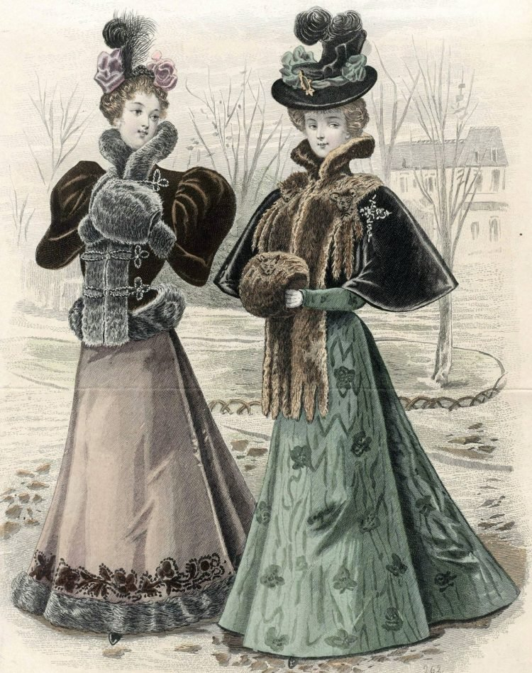Winter clothing women fashion 1890s