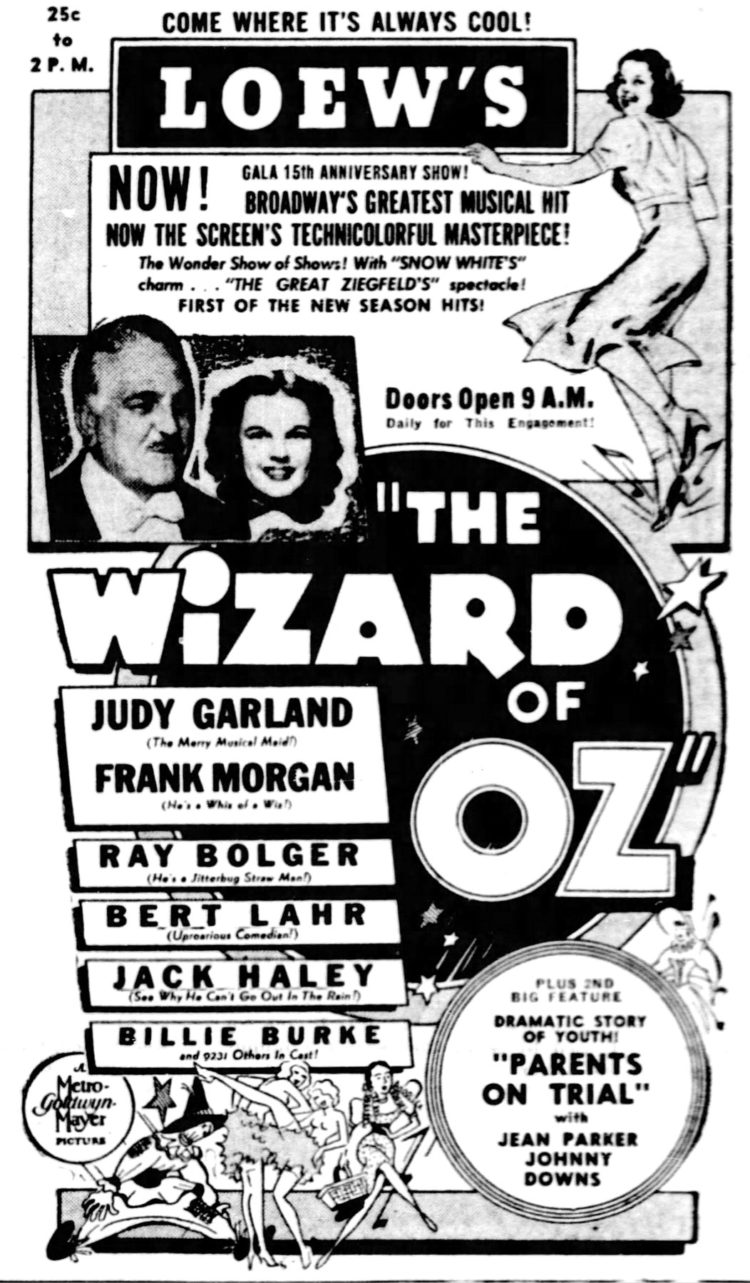 Wizard of Oz - St Louis - August 1939