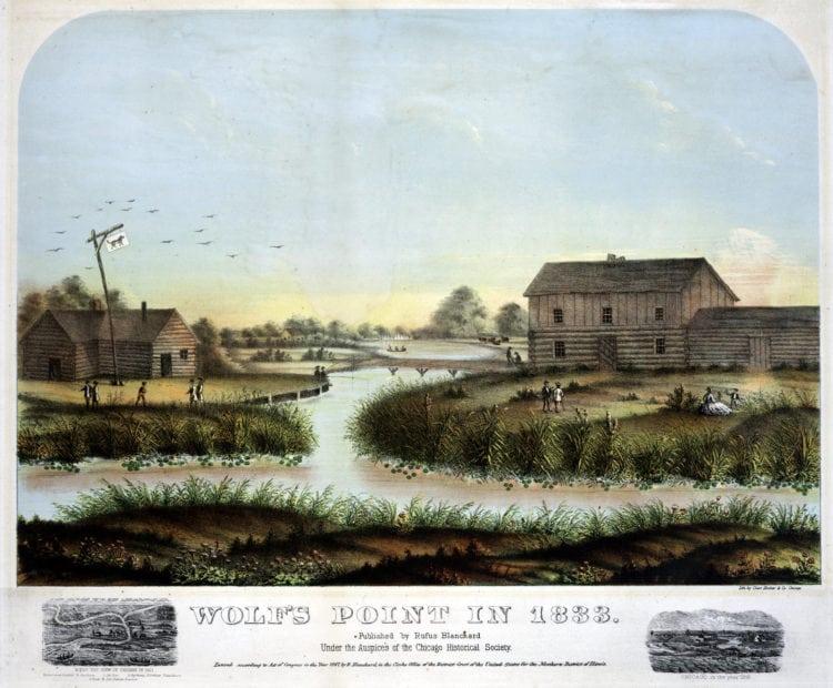 Wolfs Point Chicago 1833