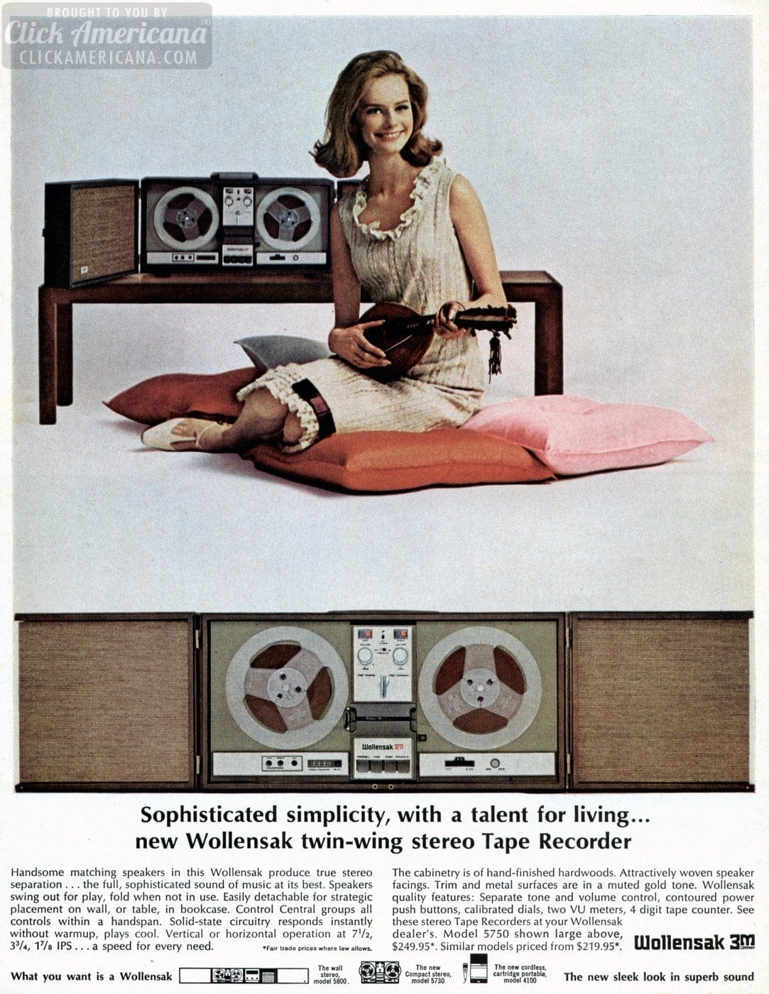 Woolensak Twin-Wing stereo tape recorder (1966)