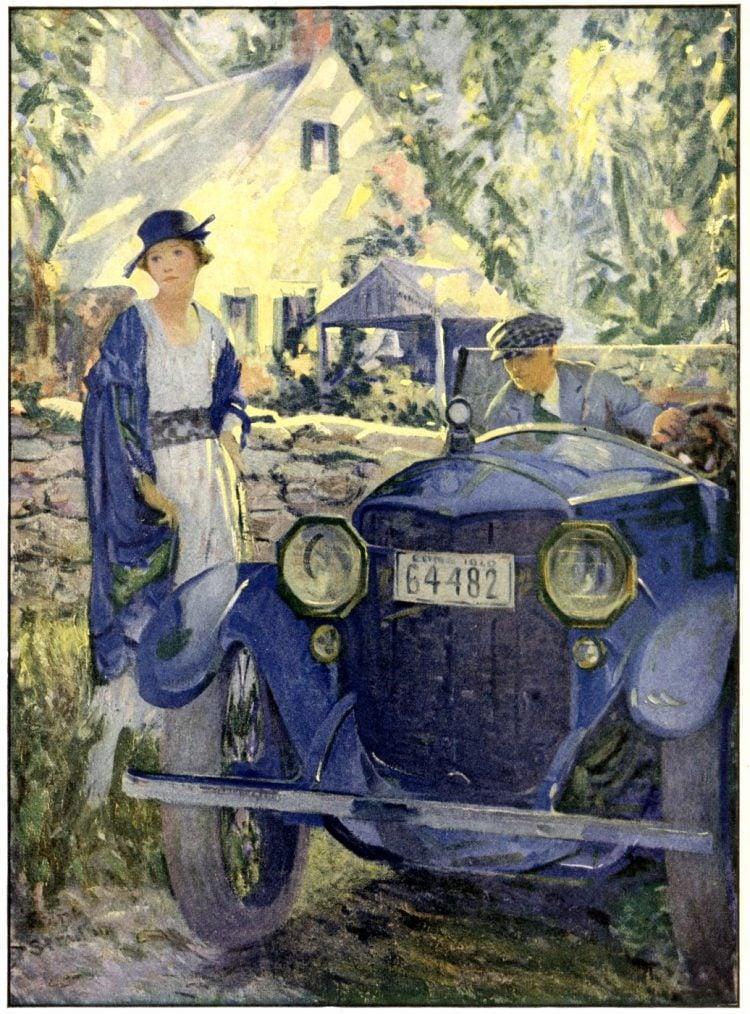 Woman car 1920