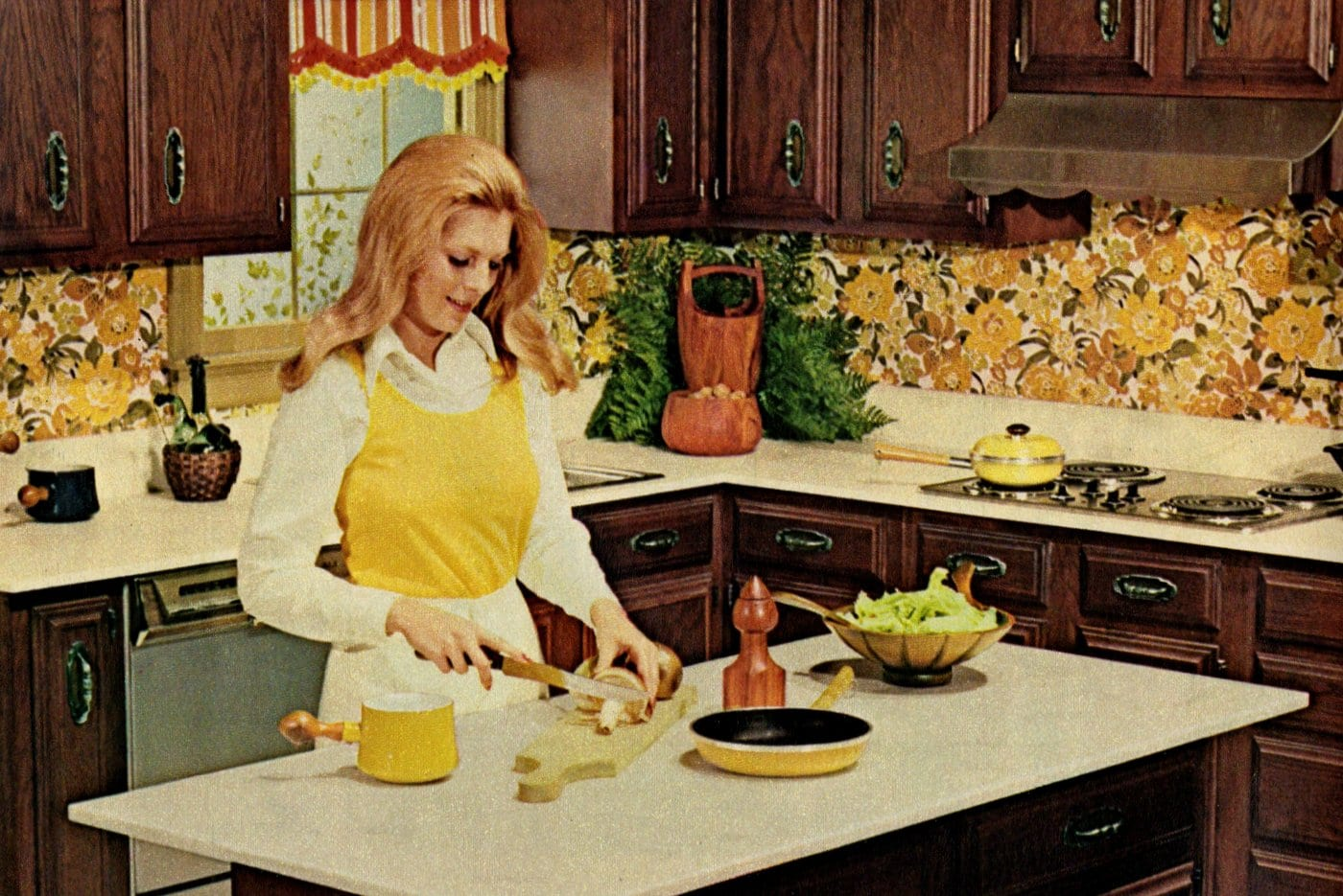 Woman in her kitchen 1973