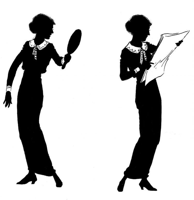 Woman umbrella fashion - 1920s (1)
