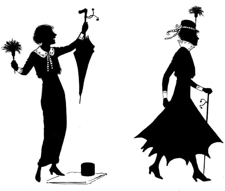 Woman umbrella fashion - 1920s (2)