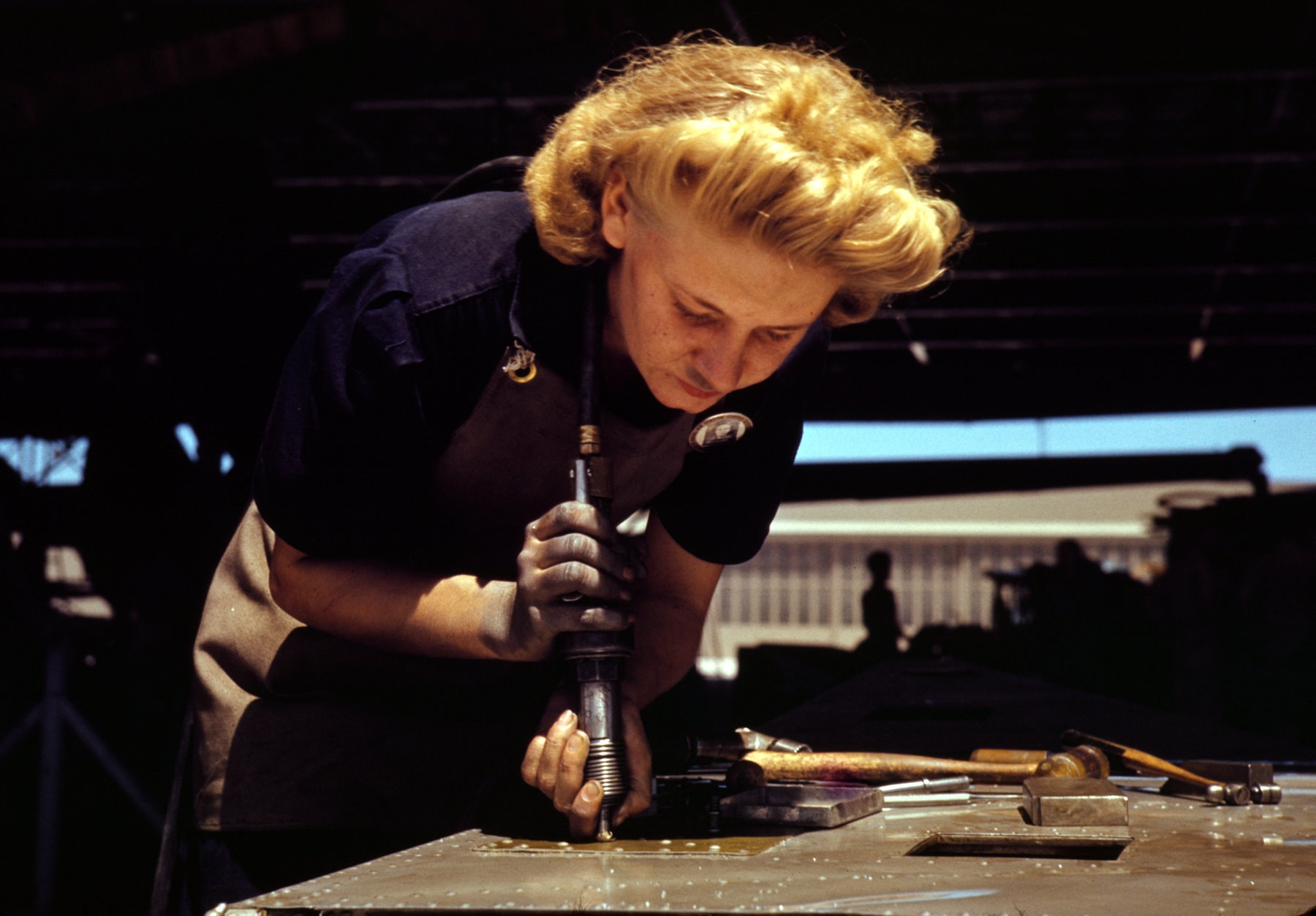 Woman working in the Texas assembly and repair department