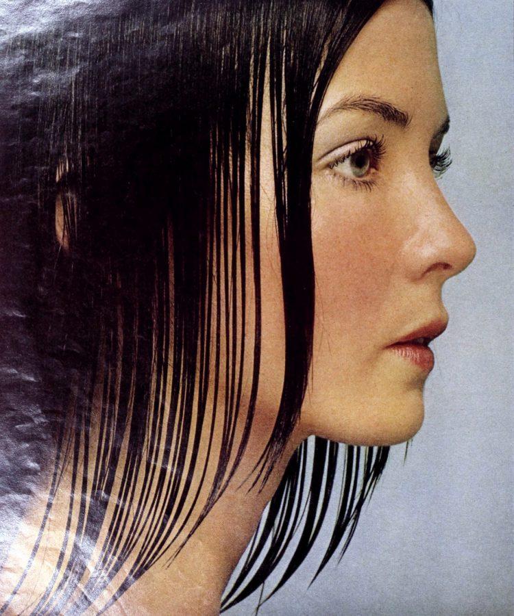 Woman's haircut in 1971