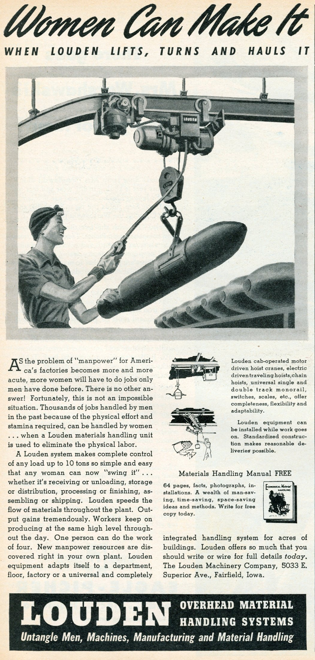 Women can make with Louden lifts it (1944)