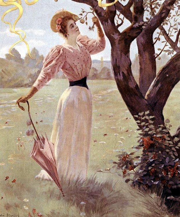 Women with antique parasols (1)
