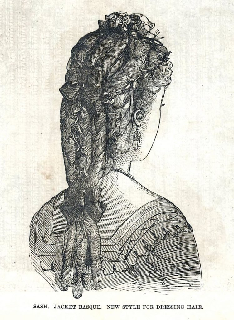 Women's antique hairstyles from 1872 (3)
