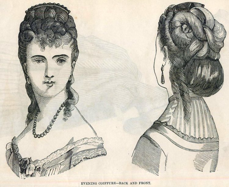 Women's antique hairstyles from 1872 (4)